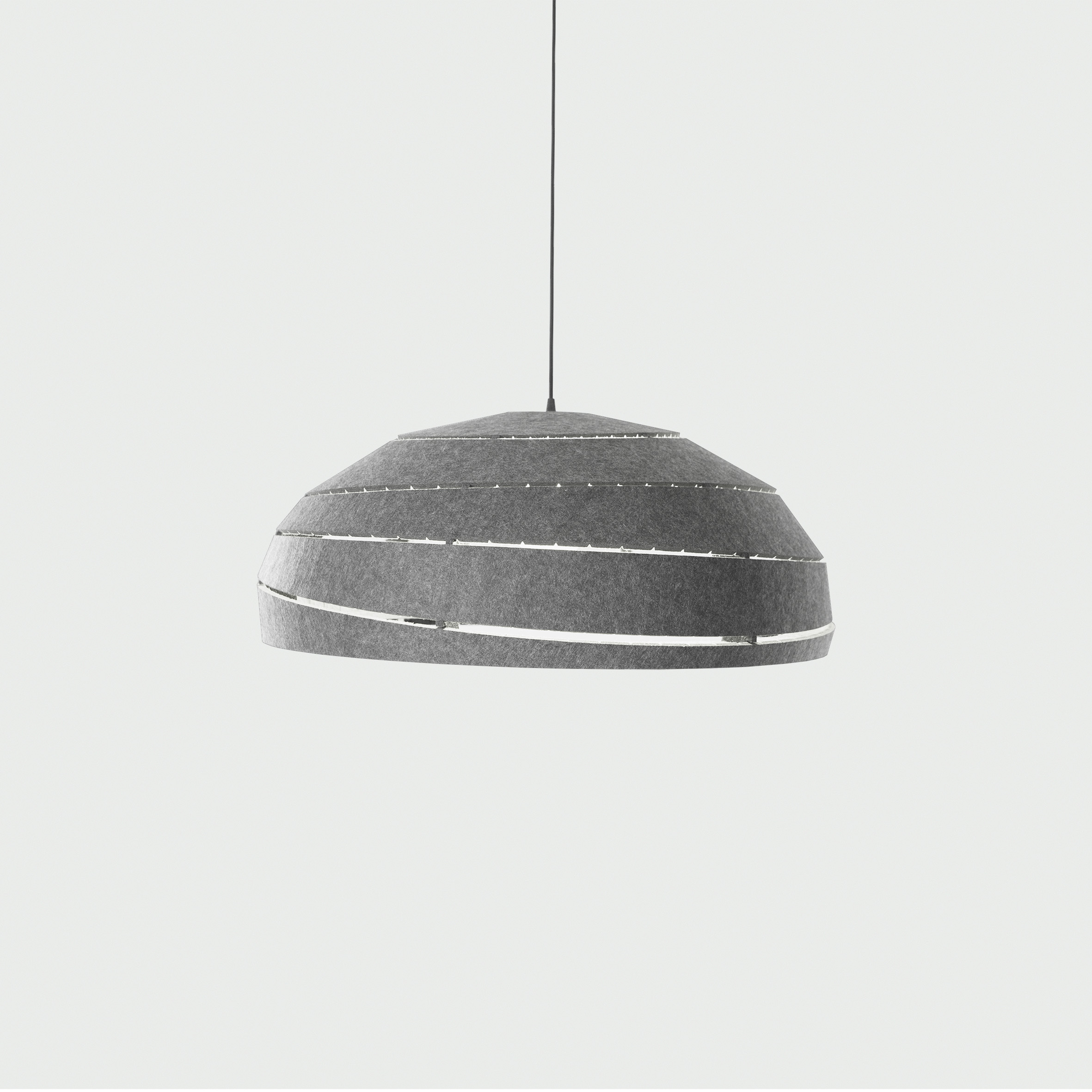 Sliced PET Felt akoestische lamp